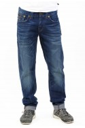 True Religion - Geno W/Flap Slim BWSM Cobalt Shadows Men's Jeans