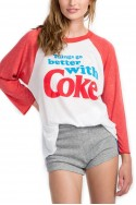 Wildfox - Go Better With Coke Rebel Raglan - Vintage Lace