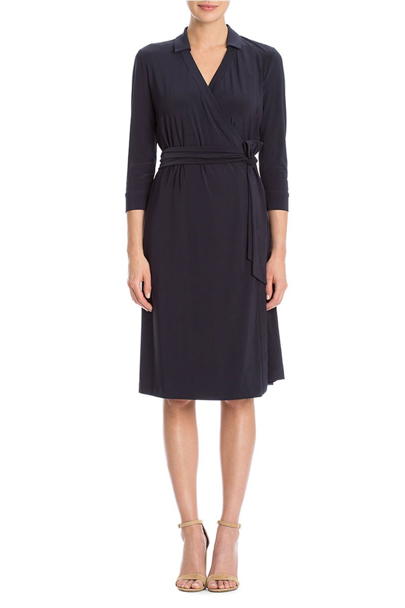 Nic+Zoe - Luxe Tie Wrap Dress - Midnight