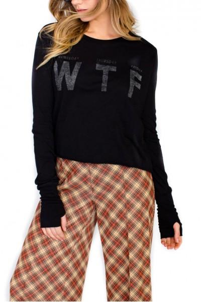 Wildfox - WED. THURS. FRI. Major Tee - Clean Black
