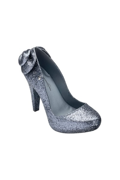 Melissa White Incense Glitter High Heel Shoe - Gray