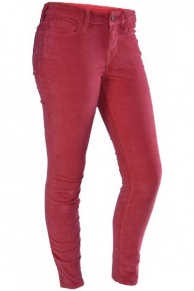 True Religion -  Halle Highrise Lonestar Stretch Velvet Jeans - Very Berry