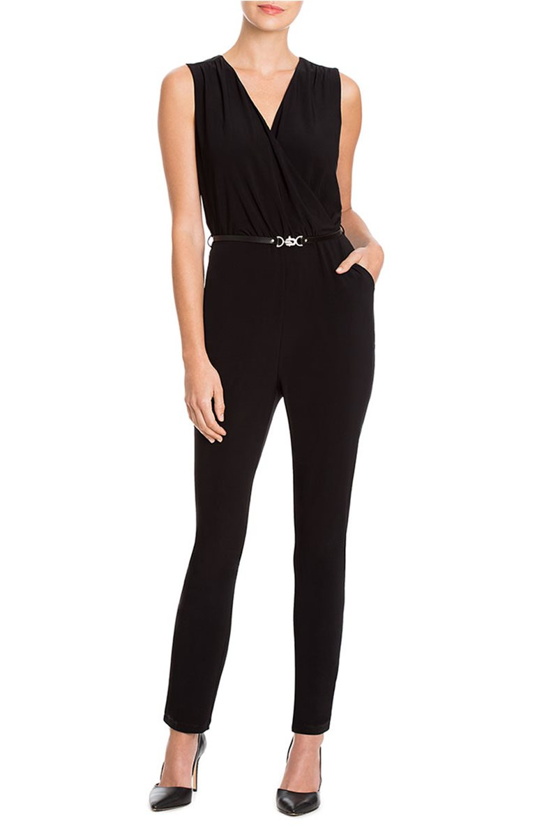 Nic + Zoe - Luxe Jersey Jumpsuit - Black Onyx
