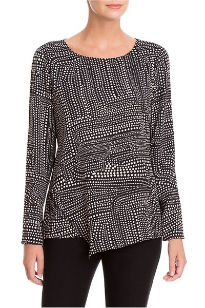 Nic + Zoe - Diamond Dot Top - Multi