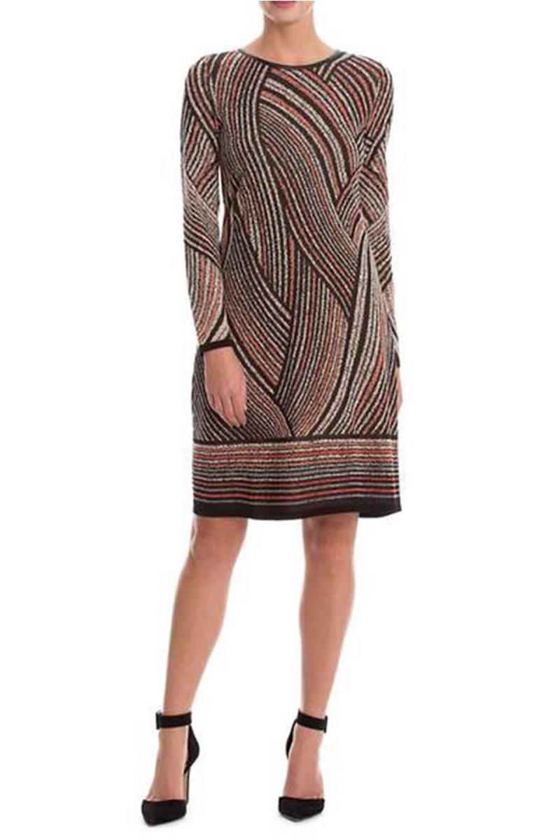 Nic+Zoe - Smokey Lines Dress - Multi