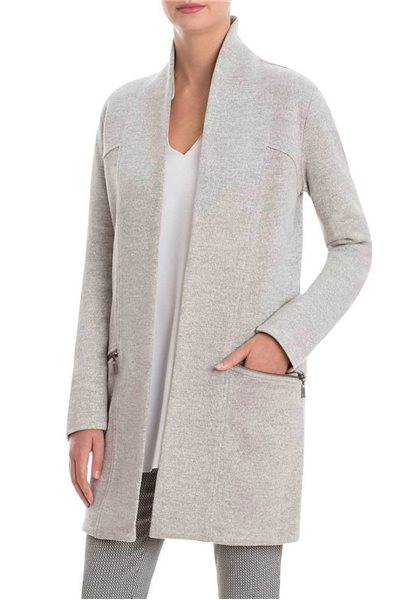 Nic+Zoe - Modernist Trench Coat - Heather Grey