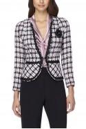 Tahari - Braid-Trim Boucle Jacket - Pink