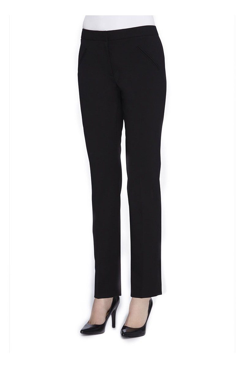 Tahari - Straight-Leg Bi-Stretch Pants - Black