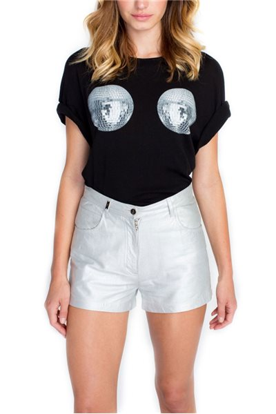 Wildfox - Disco Pasties Sonic Tee - Clean Black