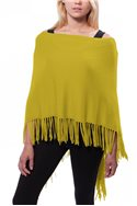 Caroline Grace -  Trade Wind Cotton Cashmere Topper w/ Fringe