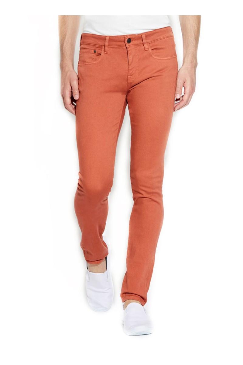 Waven - Mens Erling Spray on Slim Jeans - Burnt Orange