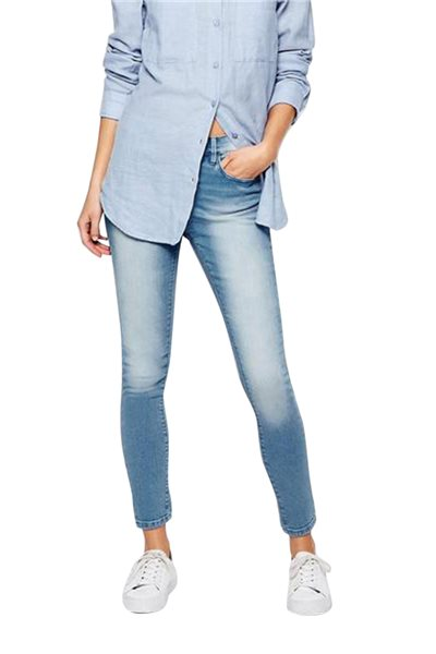Waven - Womens Freya Skinny Ankle Grazer Jeans - Ice Blue