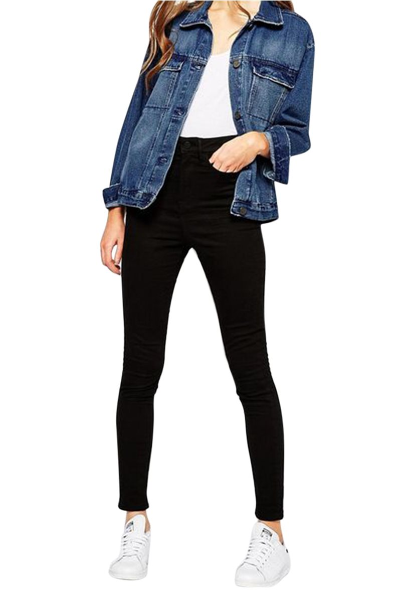 Waven - Womens Anika High Rise Skinny Jeans - True Black