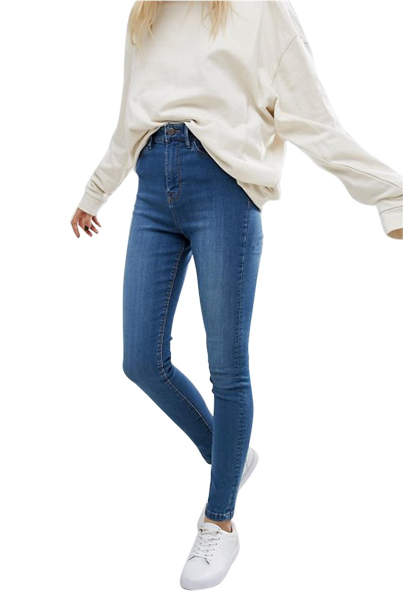 Waven - Womens Anika High Rise Skinny Jeans - Kelly Blue