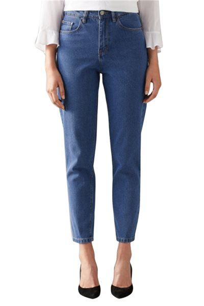 Waven - Womens Elsa Mom Jeans - Kelly Blue