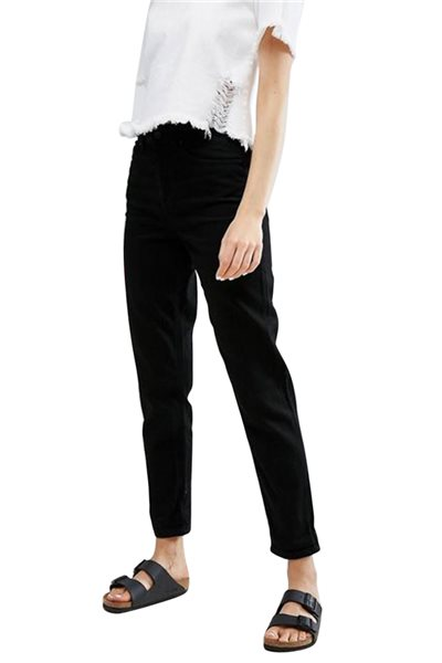 Waven - Womens Elsa Mom Jeans - Vintage Black