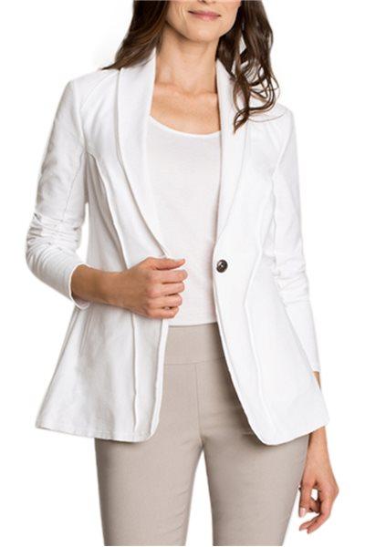 Nic + Zoe - Knit Denim Jacket - Paper White