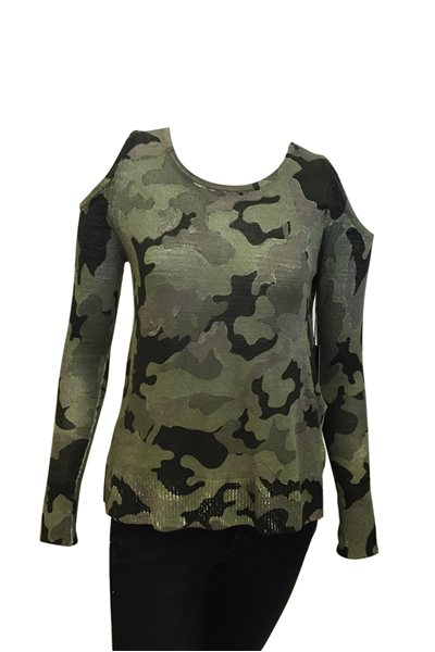 Central Park West - Camo Cold Shoulder - Army Camo
