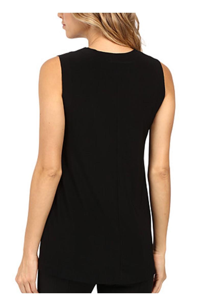 Norma kamali sleeveless swing top black - Norma kamali costumi da bagno ...