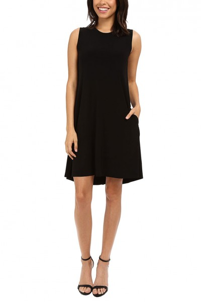 Norma Kamali - Sleeveless Swing Dress - Black