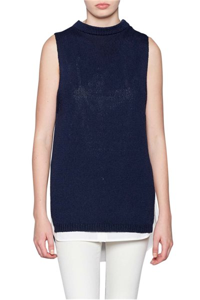 Brochu Walker - The Astrid Layered Tank - Naval
