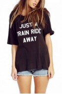 Wildfox - Just a Train Ride Away Perfect Tee - Black F