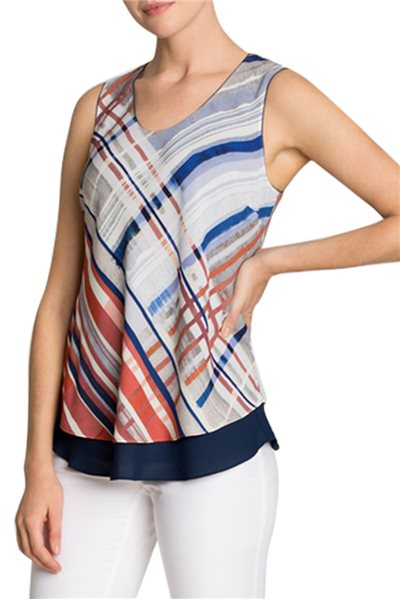 Nic + Zoe - Painted Plaid Reversible Tank - Multi