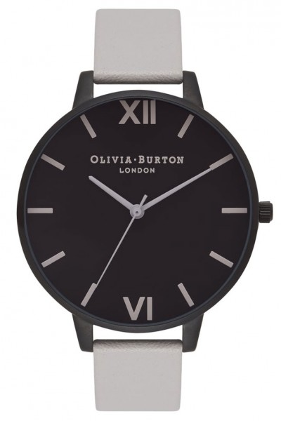 Olivia Burton - After Dark IP - Black and Light Grey Watch