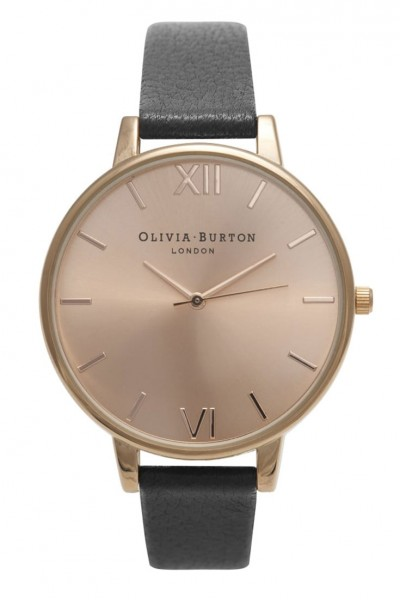 Olivia Burton - Big Dial - Black and Rose Gold  Watch
