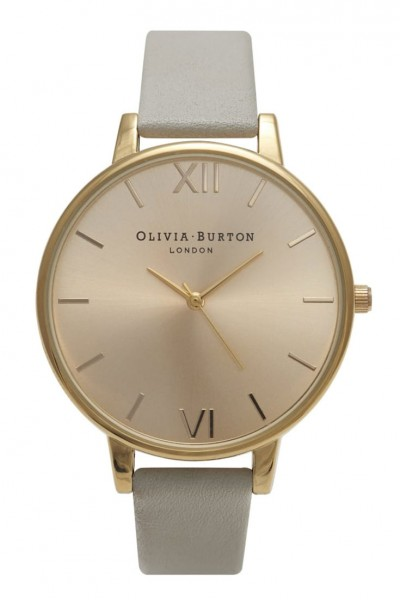 Olivia Burton - Big Dial - Grey and Gold Watch