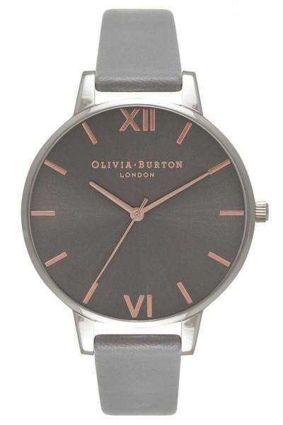 Olivia Burton - Big Dial - Dark Grey and Rose Gold Watch