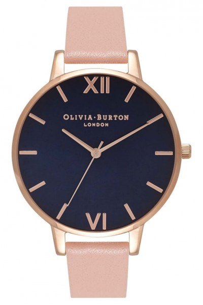 Olivia Burton - Navy Dial - Dusty Pink and Rose Gold Watch
