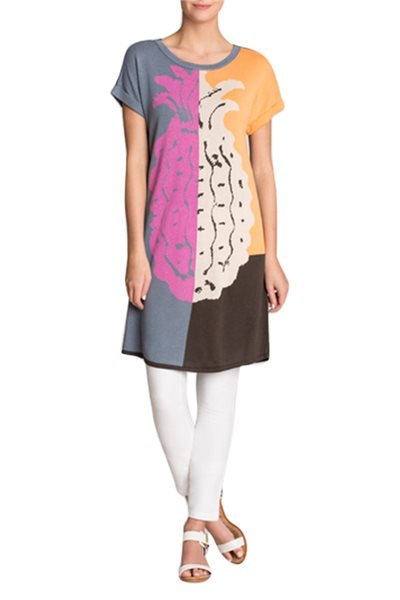 Nic + Zoe - Divisional Tunic Dress - Multi