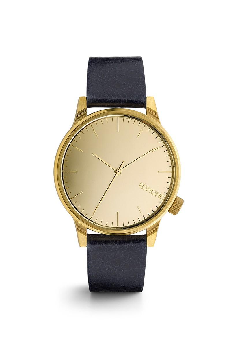 Komono - Winston Mirror Watch - Gold Navy
