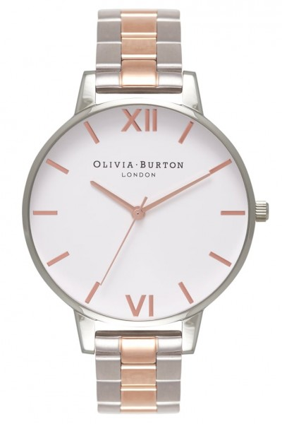 Olivia Burton - White Dial Bracelet - Silver & Rose Gold Watch
