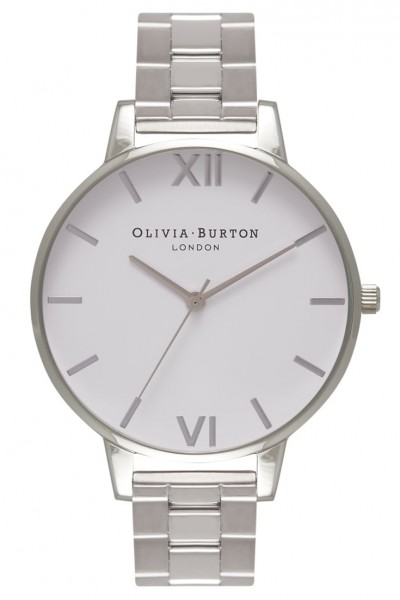 Olivia Burton - White Dial Bracelet - Silver Watch