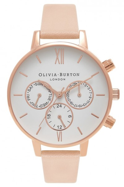 Olivia Burton - Chrono Detail - Nude Peach & Rose Gold Watch
