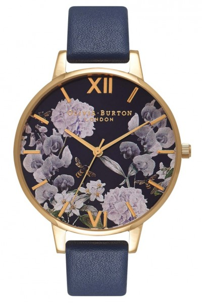 Olivia Burton - Enchanted Garden Midnight  - Navy & Gold Watch