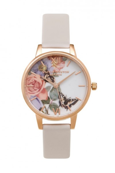Olivia Burton - Enchanted Garden Midnight  - Blush & Rose Gold Watch