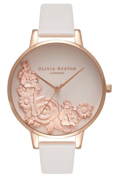 Olivia Burton - Moulded Floral Bouquet - Blush & Rose Gold Watch