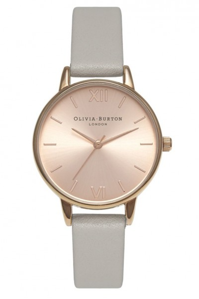 Olivia Burton - Midi Dial - Grey & Rose Gold Watch