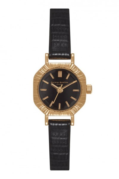 Olivia Burton - Mini Antiques - Black & Gold Watch