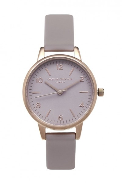 Olivia Burton - Modern Vintage Midi - Grey Lilac & Rose Gold Watch