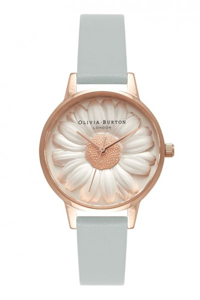 Olivia Burton - Vegan Friendly Moulded Daisy - Rose Gold & Grey