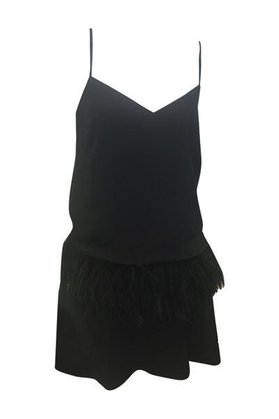 Central Park West - Beekman Place Marabou Cami - Black