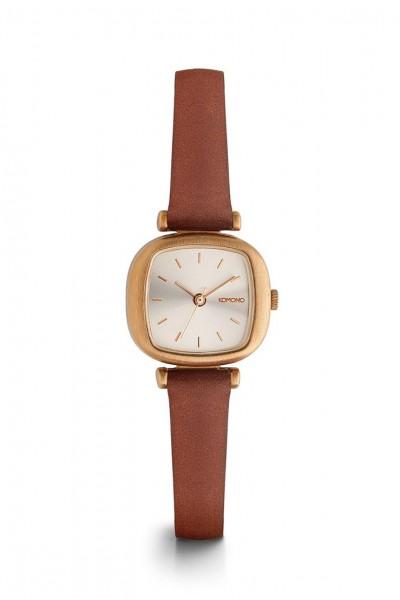 Komono - Moneypenny Watch - Rose - Gold - Brown