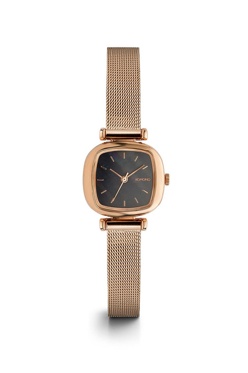 Komono - Moneypenny Royale Watch - Rose - Gold - Black