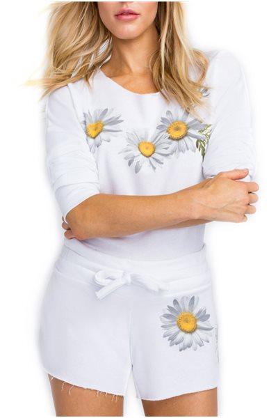 Wildfox - Fresh As A Daisy 5AM Sweatshirt - Clean White