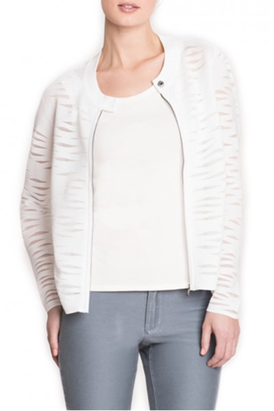 Nic + Zoe - Textured Waves Jacket - Paper White