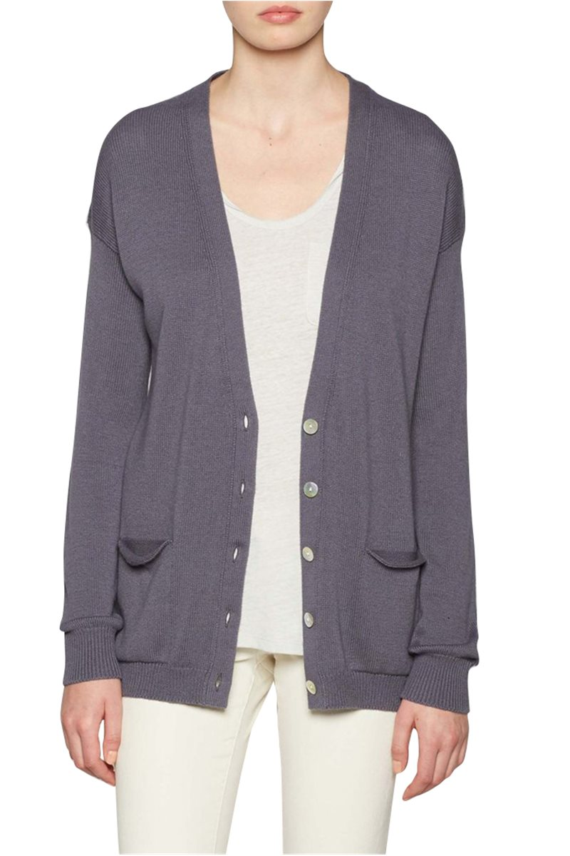 Brochu Walker - The Horne Cardigan - Smoke